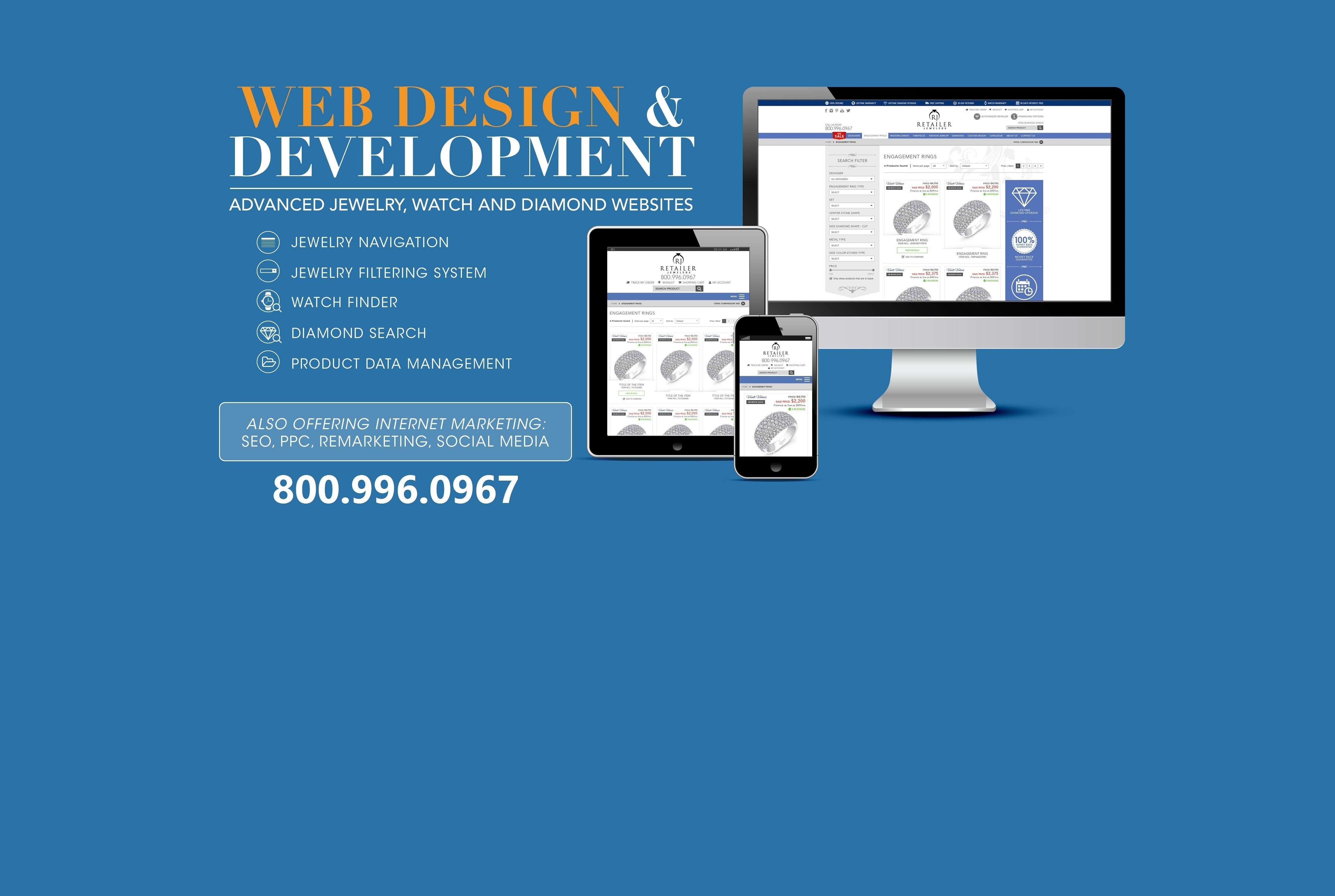 Advanced web technologies for the jewelry and watch industry